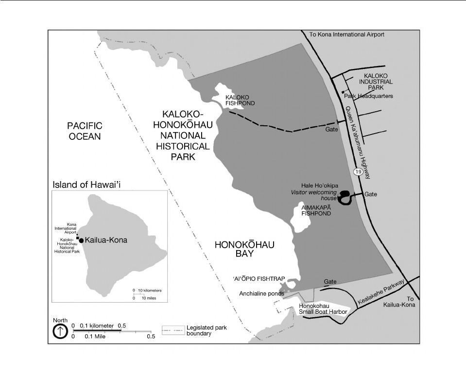 Ecosystem structure and processes at Kaloko Honokohau, focusing on.