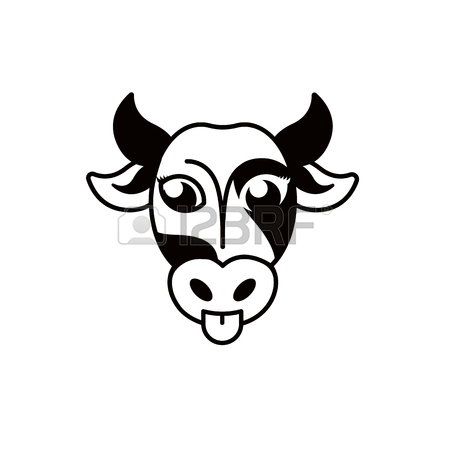 Isolierte Abstrakte Blck Und Weiße Kuh Schnauze. Huftieres. Milch.