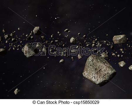 Clip Art of Kuiper Belt.