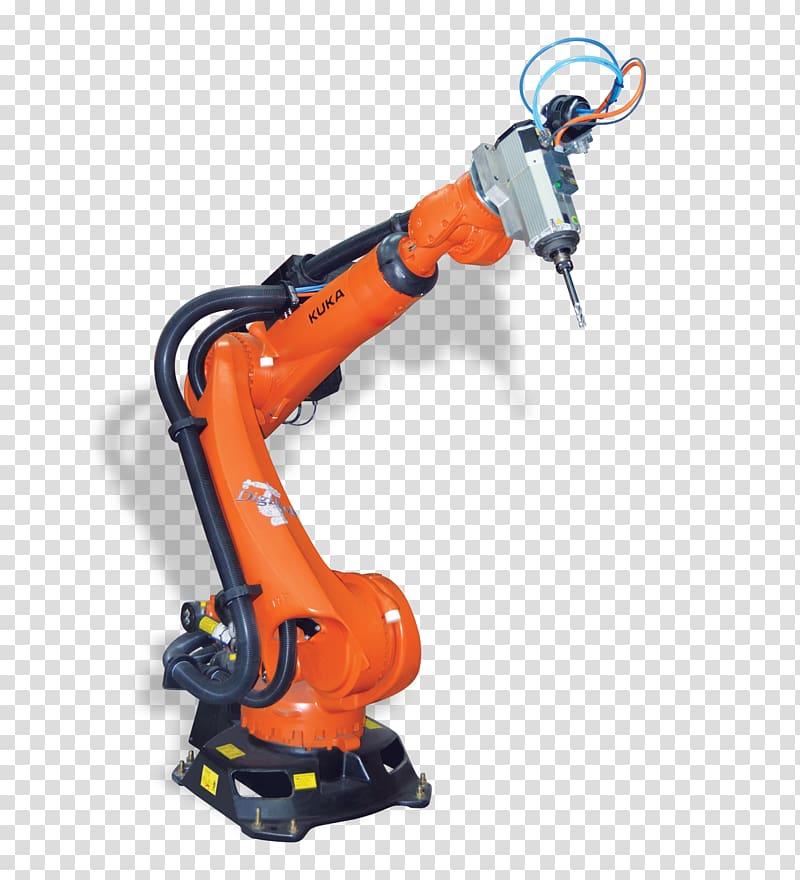 Industrial robot Machine KUKA Milling, Robotics transparent.