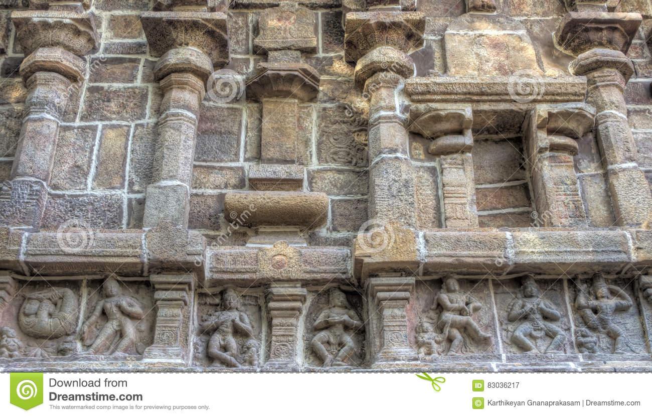 Close Up Of Sculptures, Ramaswamy Temple, Kumbakonam, Tamilnadu.