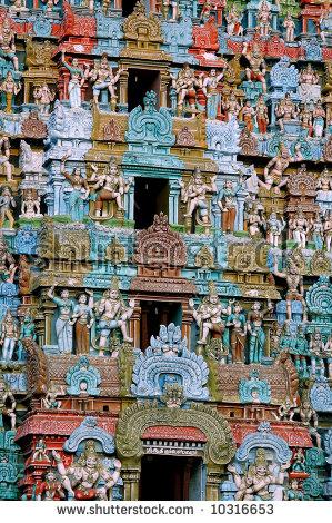 This Temple Tower Kumbeswaran Temple Kumbakonam Stock Photo.