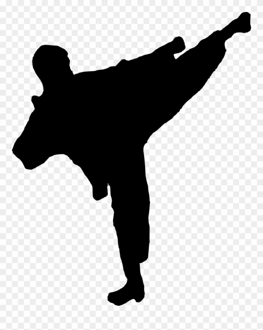 Arts Silhouette Frames Illustrations Hd Images Karate.