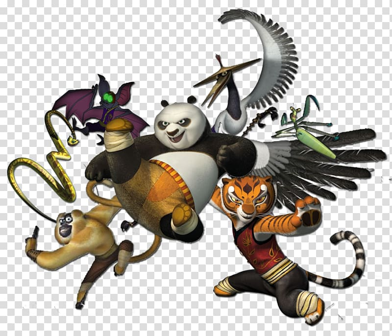 Kungfu Panda art illustration, Po Master Shifu Giant panda Kung Fu.