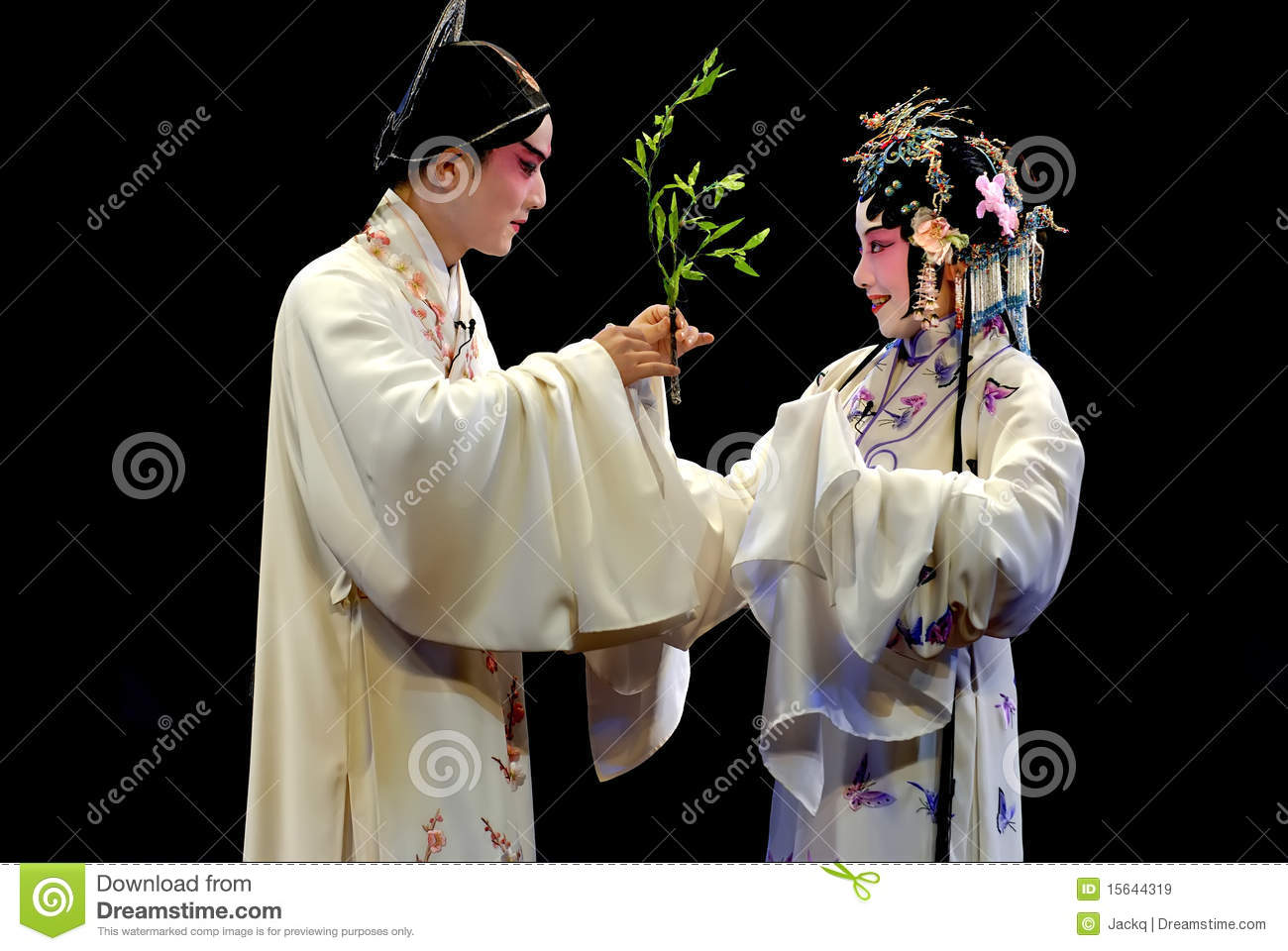 KunQu Opera : The Peony Pavilion Editorial Stock Image.