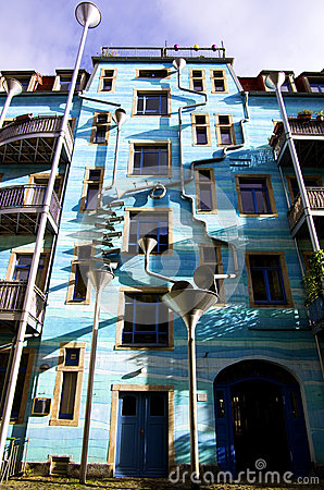 Kunsthofpassage In Dresden With Blue Building Editorial Stock.