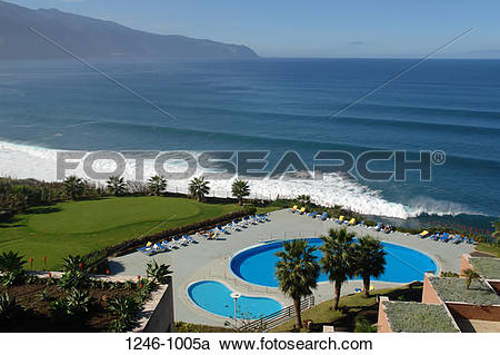 Stock Photography of Swimming pool in a hotel, Monte Mar Palace.