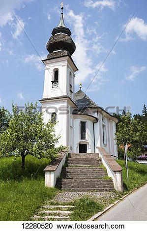 Stock Photography of Wallfahrtskirche Maria Gern, traditional.