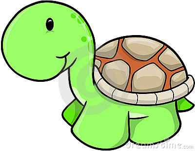 Cute Turtle Clip Art.