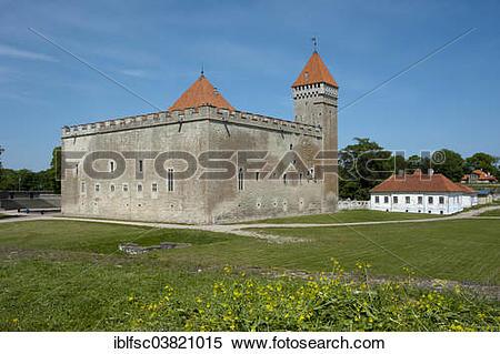 """Stock Image of """"Kuressaare Castle or Kuressaare Episcopal Castle."""