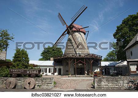"""Picture of """"Windmill, Kuressaare, Saaremaa, Estonia, Baltic States."""