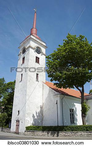 "Stock Photography of ""St. Laurence Church, Kuressaare, Saaremaa."