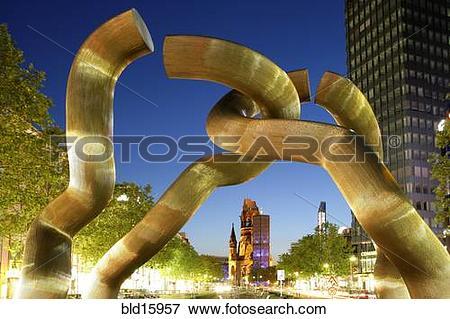 Picture of Germany, Berlin, Tauentzienstrasse, sculpture Berlin.