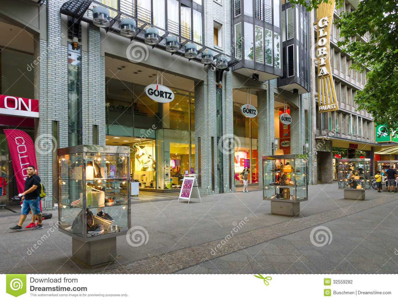 Shoe Store Goertz On Kurfuerstendamm Editorial Photography.