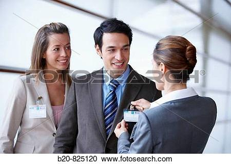 Stock Photography of ID card, convention center, Kursaal Center.