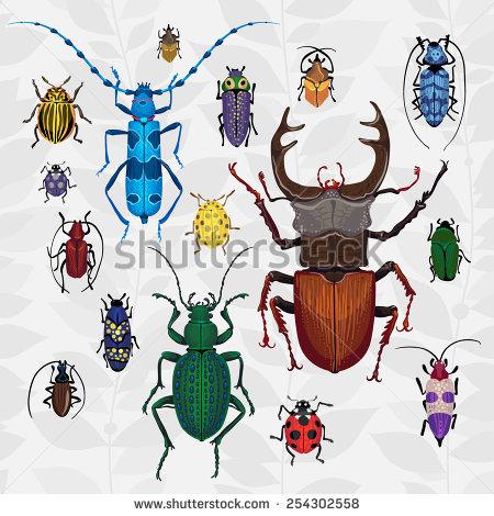 Cartoon Bugs Stock Photos, Royalty.