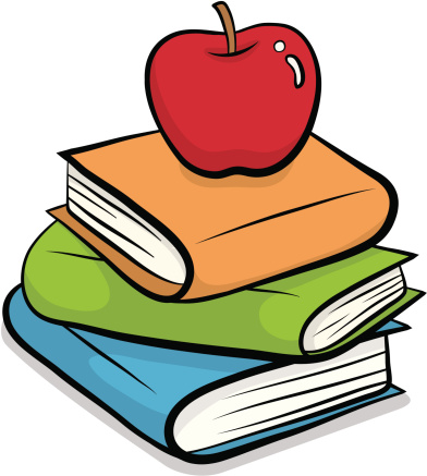 Books With Apple Clipart Clipground