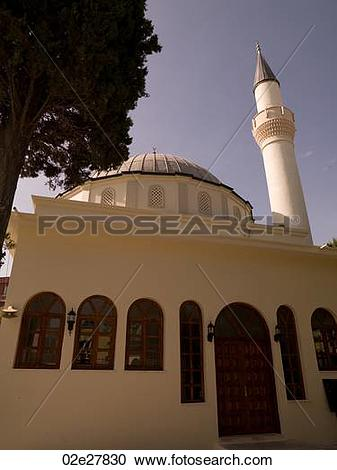 Stock Photography of Mosque in Kusadasi Turkey 02e27830.