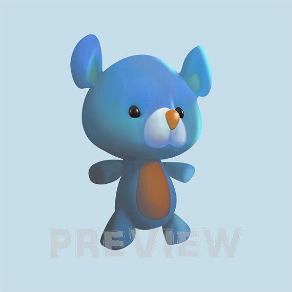 Teddy Clipart kuschelig blau Teddybär Clipart von MagicalStudio.