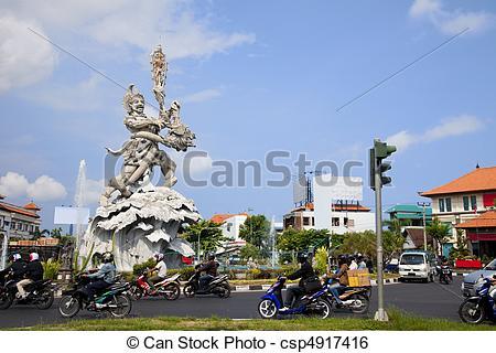 Stock Image of Giant Statue at Kuta Roundabout, Bali, Indonesia.