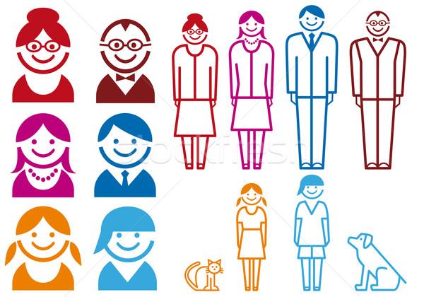 family icon set, vector vector illustration © beaubelle (#342693.