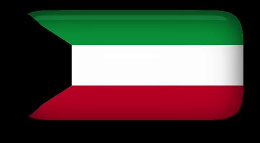 Free Animated Kuwait Flags.