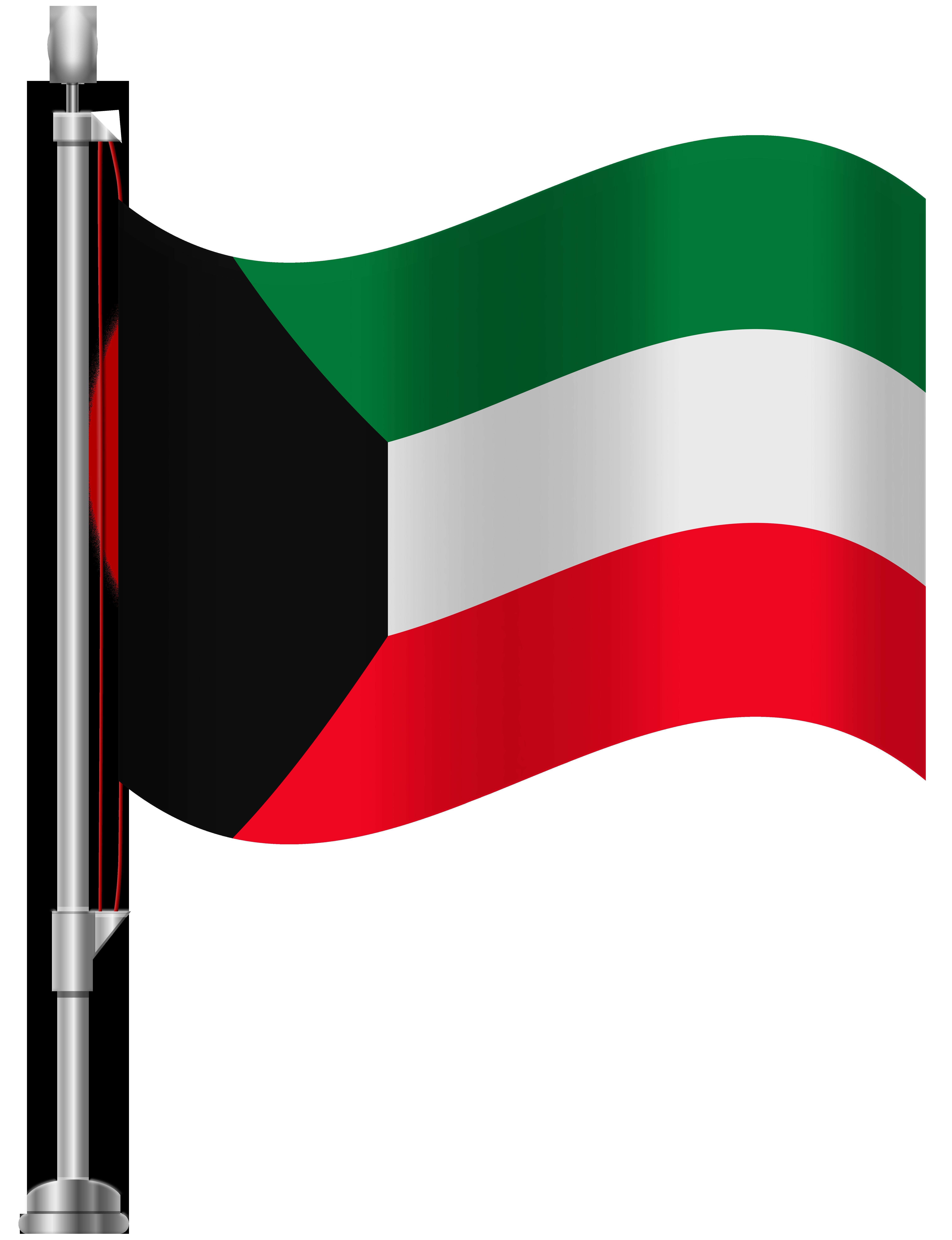 Kuwait Flag PNG Clip Art.