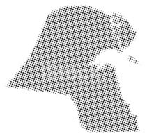 Dotted Vector Map of Kuwait stock vectors.