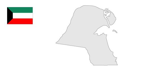 Kuwait Map Clipart.