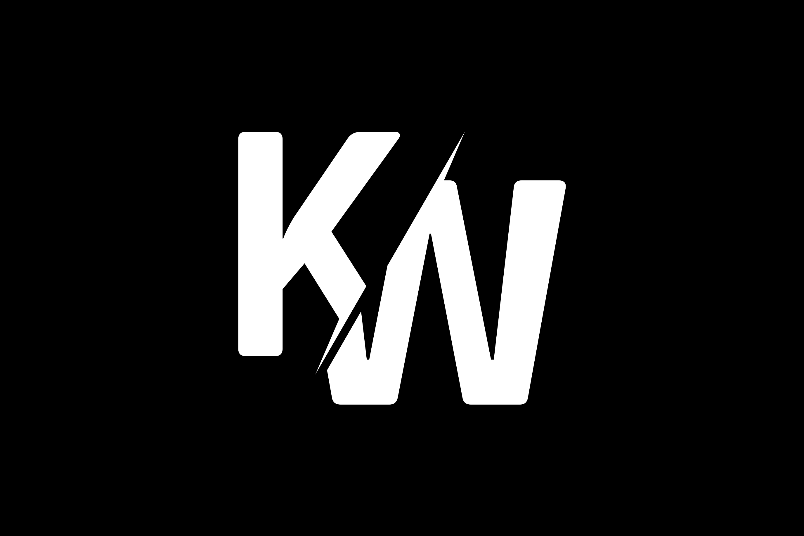 Monogram KW Logo Design.