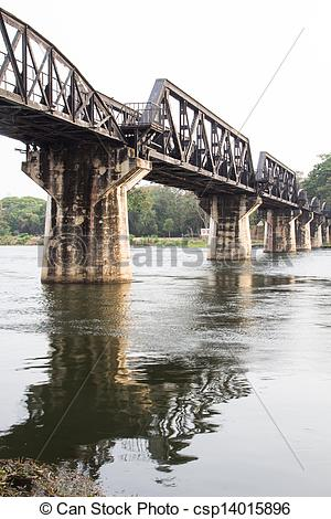 Stock Photographs of bridge over river kwai.