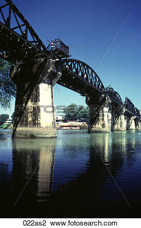 Stock Photo of Bridge over the River Kwai Thailand Asia 022as2.