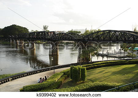 Stock Photo of The Death Railway Bridge over Kwai k9399402.