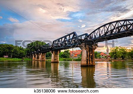 Stock Images of Kanchanaburi (Thailand), The Bridge on the River.