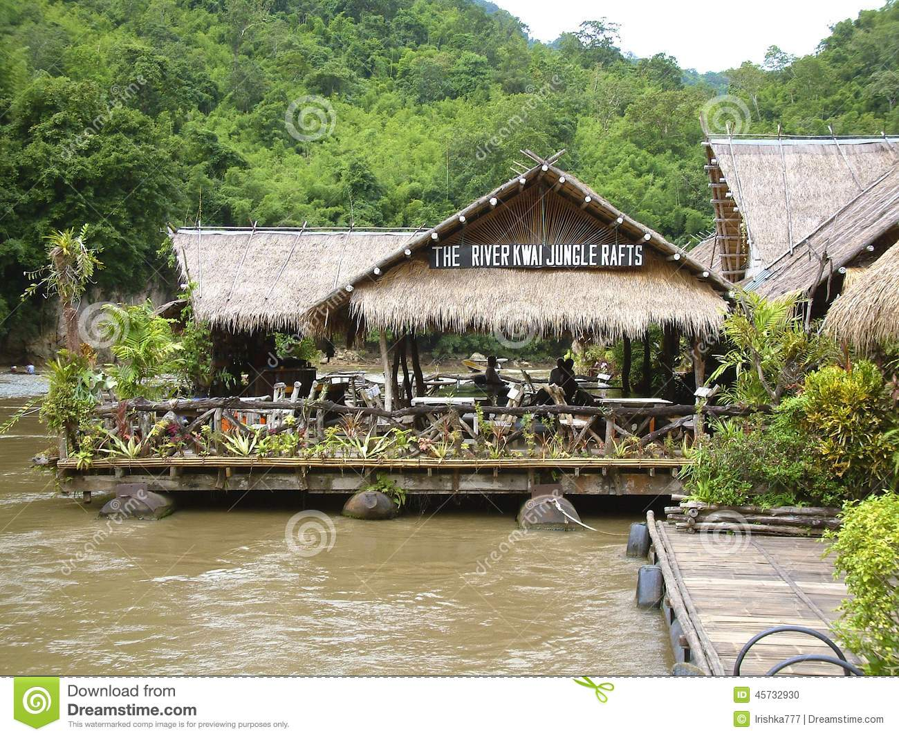 Floating Hotel On River Kwai, Thailand Editorial Image.