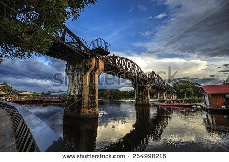 Bridge River Kwai Stock Photos, Royalty.