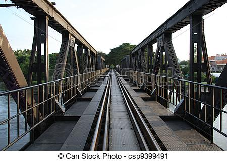 Stock Photography of The Bridge on the River Kwai, Thail.