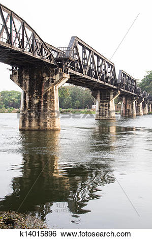 Stock Images of bridge over river kwai k14015896.