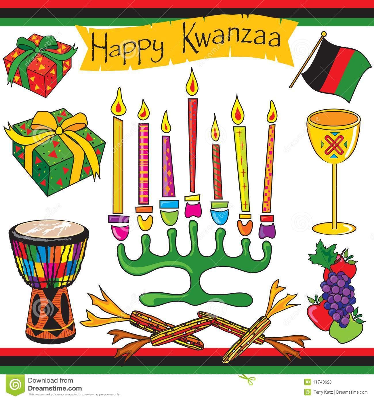 Happy Kwanzaa Clip Art And Icons Royalty Free Stock Photos.