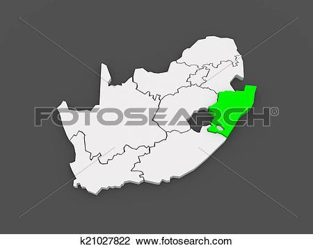 Clip Art of Map of KwaZulu.