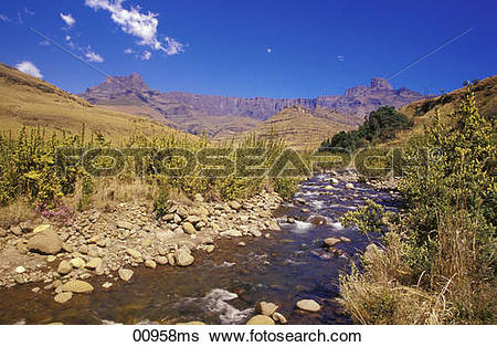 Stock Images of Amphitheatre at the Royal Natal National Park.