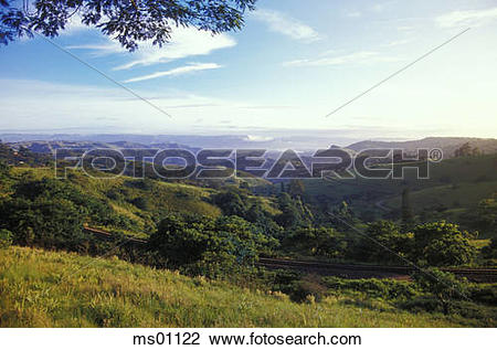 Stock Photo of Valley of Thousand Hills, from Botha's Hill.