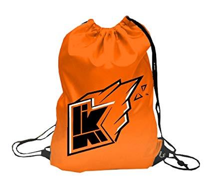 Kwebbelkop logo youtube 2 , Drawstring Backpack (Orange.