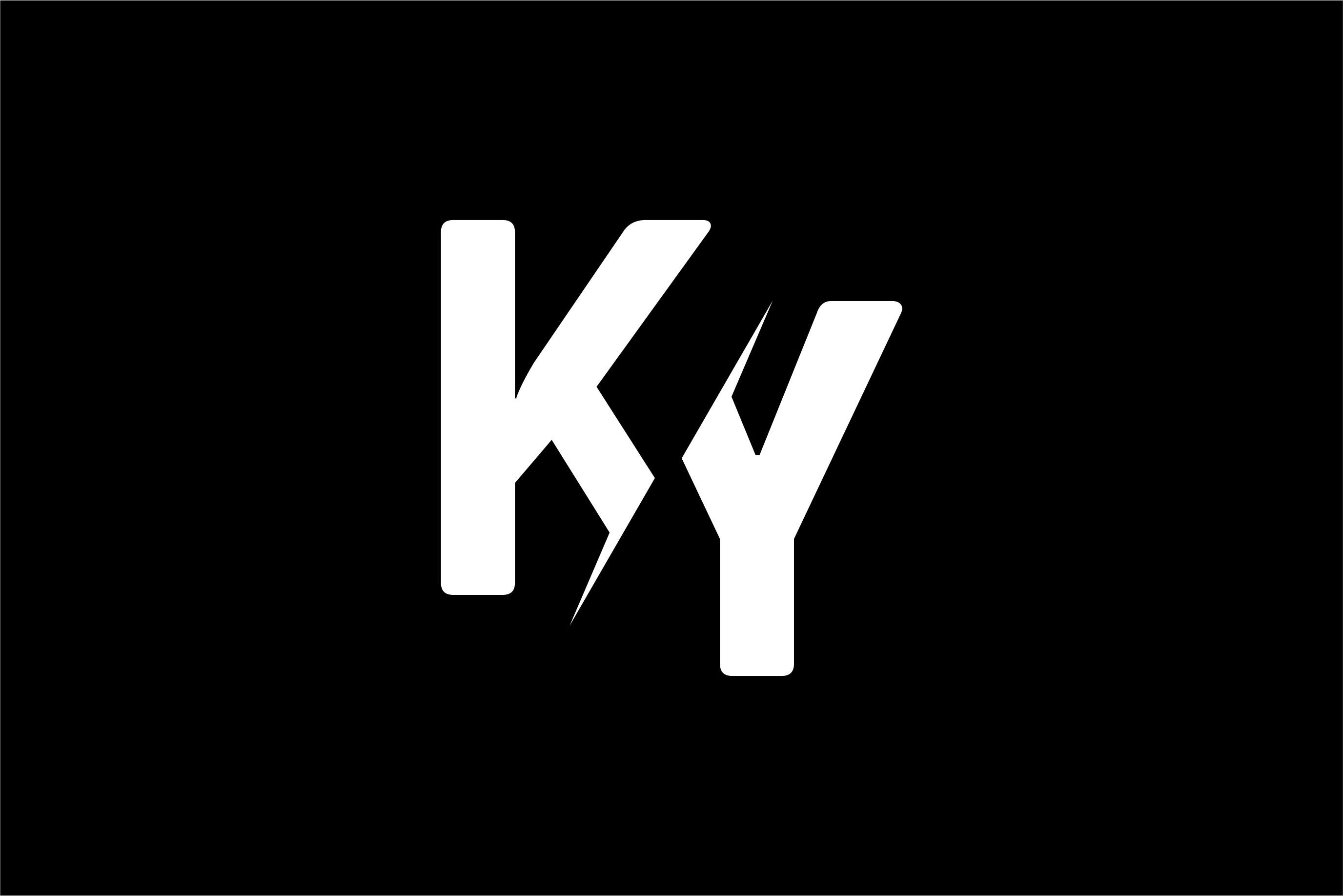 Monogram KY Logo Design.