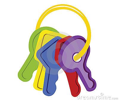 Baby keys clipart.