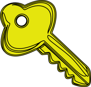 Cartoon Key Clipart.