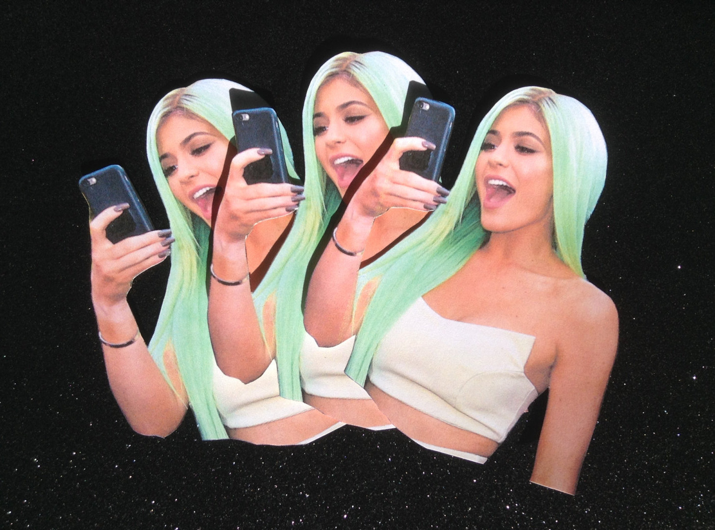 Kylie Jenner Matte Stickers 3 Pack.