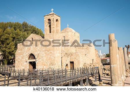 Pictures of Ayia Kyriaki Chrysopolitissa church in Paphos, Cyprus.