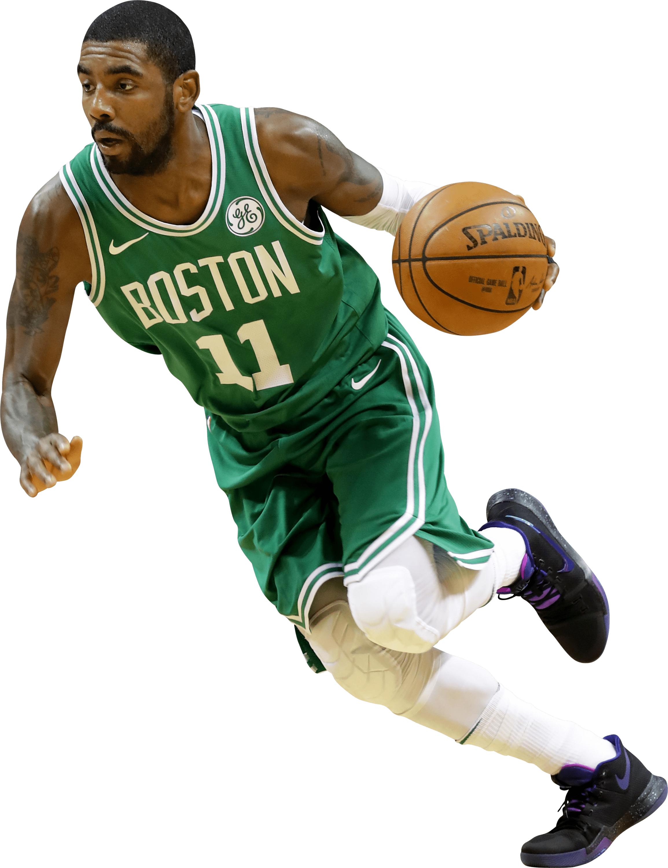Kyrie Irving Boston Celtics Running transparent PNG.