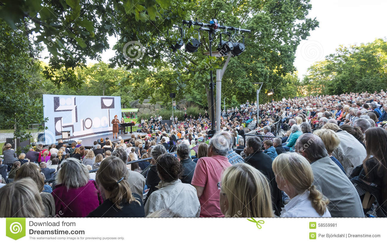 Outdoor Park Theater Stockholm Editorial Photo.